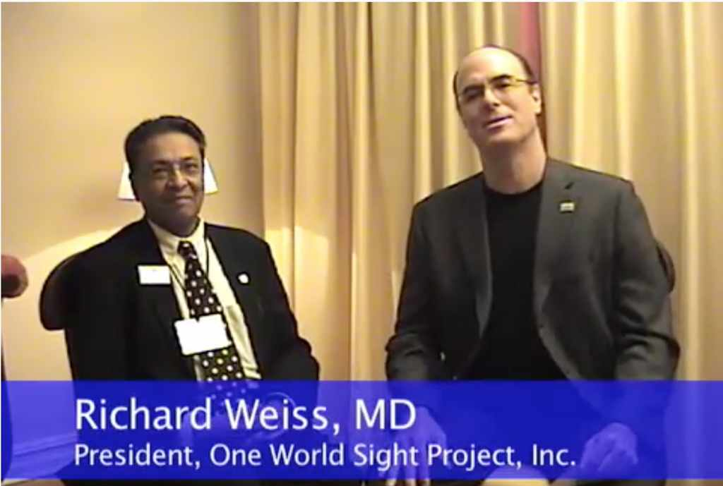 Drs. Richard Weiss and Ashok Shaw discussing eye care in an interview