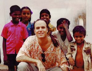 Dr. Weiss with children in India